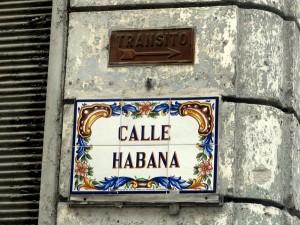Calle Habana in Havana