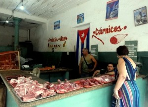 Cuban Butchers Meat vendor