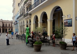 Street entertainers Old Havana Plaza Vieja